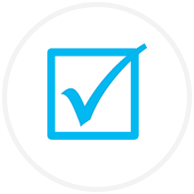 Blue tick-box Icon
