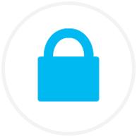 Blue padlock icon
